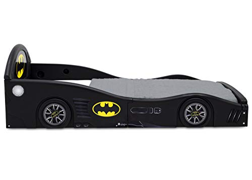 DC Comics Batman Batmobile Car Sleep and Play Toddler Bed with Attached Guardrails by Delta Children 4