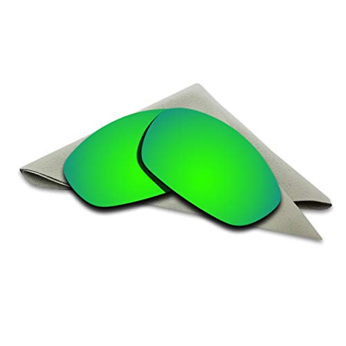 e1a48db9edec0 Polarized Lenses Replacement for Oakley Straight Jacket 2007 Emerald Green  Mirrored