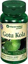 Витамин World Готу Кола, 250 мг, 100 Caplets