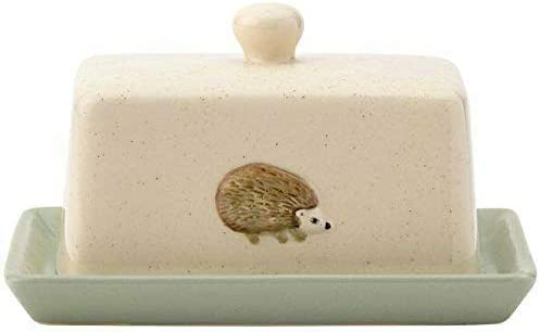 Edale Hedgehog Animal Butter Dish Hand Crafted//Painted 17.3cm x 12.7cm