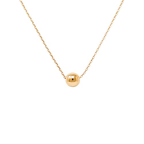 Gold Ball Necklace - Me Plus Women Fashion Gold Dipped Charm Collar Necklace (6 (Round Ball-Gold)