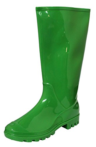 Rain Boots, Waterproof Shoes, Rubber Boots (7, Green) ()