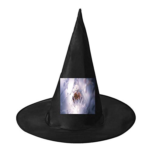 Bees on Flowers Unisex Halloween Witch Role Playing Wizard Hat for Costume -