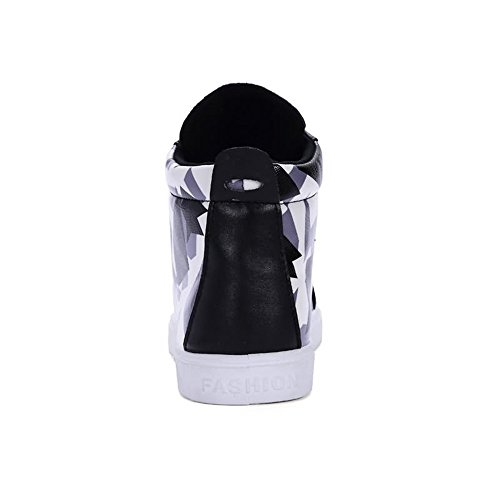 de Ayuda Casual Personalidad Zapatos Estilo Moda Zapatillas para Camuflaje Hombres Color Alta Tendencia Negro Deportivos Color Nuevo dIxvqw