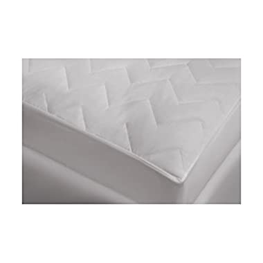Waterguard Fitted, Quilted Mattress Pad With 100% Cotton Top Quiet! Queen Size: 60 x80