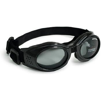 Doggles Originalz Medium Frame Goggles for Dogs with Smoke Lens, Black