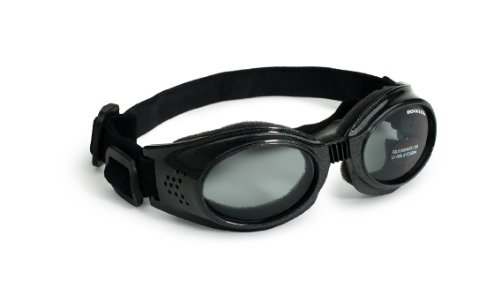 Doggles Originalz Medium Frame Goggles for Dogs with Smoke Lens, Black by Doggles