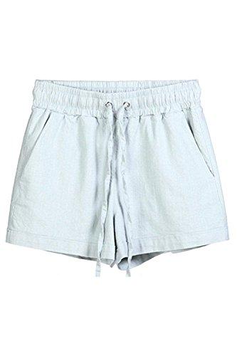 Large Basic Gris Unicolor Mode Élégant Dentelle Vêtements Avec Femmes Shorts Beach Vintage Eté Casual Taille Hotpants wqvCIfx4B