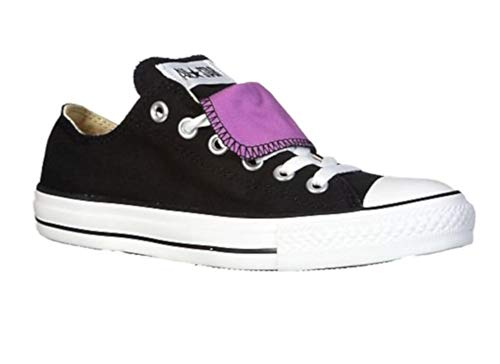 Converse Chuck Taylor All Star Women's Black Purple Double Tongue ox Double Tongue Ox Shoes