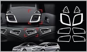 Delhitraderss Chrome Interior Moulding Kit For Hyundai New Verna Fluidic Set Of 8pcs