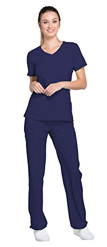 Cherokee Infinity Women's Scrub Set - 2625A Mock Wrap Top & 1124A Low Rise Slim Pull-On Pant