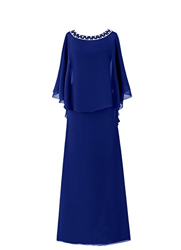 HWAN Kleid Mantel der Frauen Königsblau Flutter Braut Mutter Sleeve Lange qrqZxa8