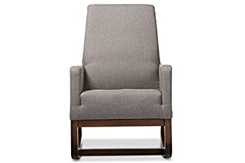 Mid-Century Rocking Chair in Grey Fabric  sc 1 st  Amazon.com & Amazon.com: Mid-Century Rocking Chair in Grey Fabric: Baby