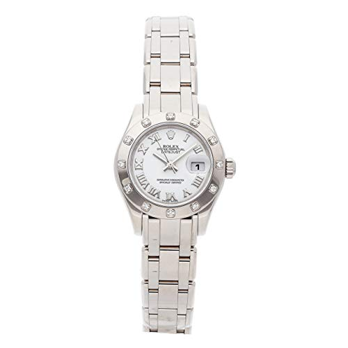 Rolex Pearlmaster Mechanical (Automatic) White Dial Womens Watch 80319 (Certified Pre-Owned)