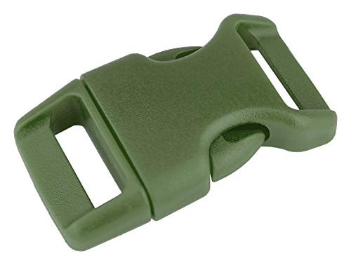 - 50-5/8 Inch Military Green Contoured Side Release Plastic Buckle Closeout