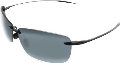Maui Jim Sunglasses - Lighthouse / Frame: Gloss Black Lens: Polarized Neutral - Jim Maui Hut Sunglass