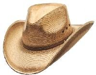 Western Pinch Front Straw Cowboy Hat For Men Size L Pinch Front Straw