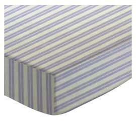 SheetWorld Fitted Oval Crib Sheet (Stokke Sleepi) - Lavender Dual Stripe - Made In USA by SHEETWORLD.COM