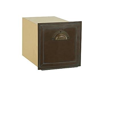 Salsbury Industries 4440 Antique Brass Column Mailbox, Recessed Mounted