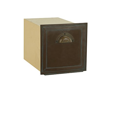 (Salsbury Industries 4440 Antique Brass Column Mailbox, Recessed Mounted )