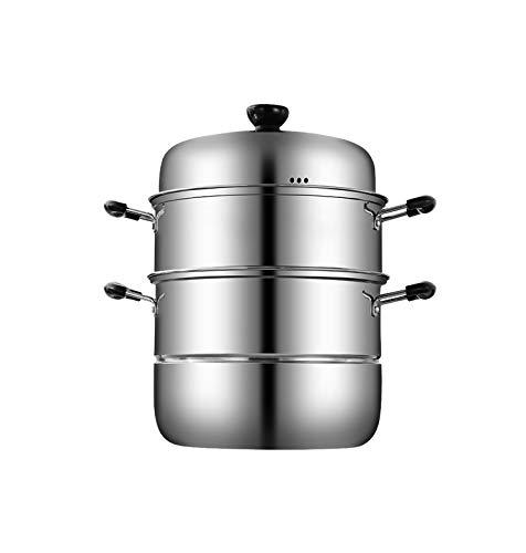家庭用ステンレス鋼スチーマー、厚くて丈夫、便利で、安全かつ衛生的で、スープポット、電磁調理器一般に適し、高品質   B07SLXC6RB