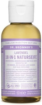 DR. BRONNER'S - Liquid Vegan Lavender Soap 18 in 1 - Cleaning and Wellness for the Person and the House - with Organic Oils, Biodegradable, for all Types of Skins - All 1 Soap Lavender