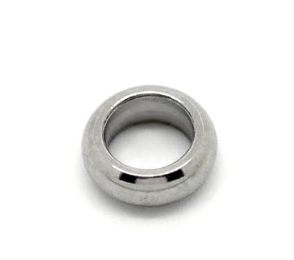 YF - Conectores de argollas cerradas de acero inoxidable para bisutería, 50 unidades, 5 mm