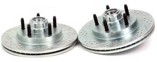BAER 54092-020 Sport Rotors Slotted Drilled Zinc Plated Front Brake Rotor Set - Pair