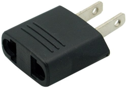 Ckitze Flat Europe/Asia to USA Plug Adapter (Euro Plug Converter)