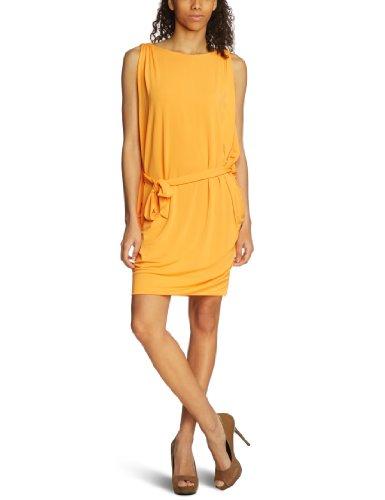 Damen Compagnia 0 knielang Kleid 033 Mandarino Orange Italiana C3 55nqR6rBz