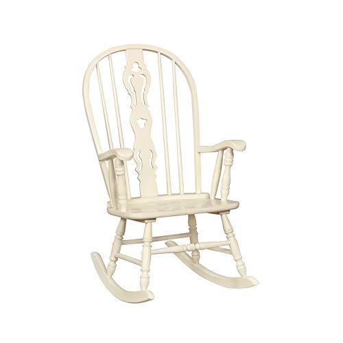 Furniture of America Jasmina Rocking Chair in White