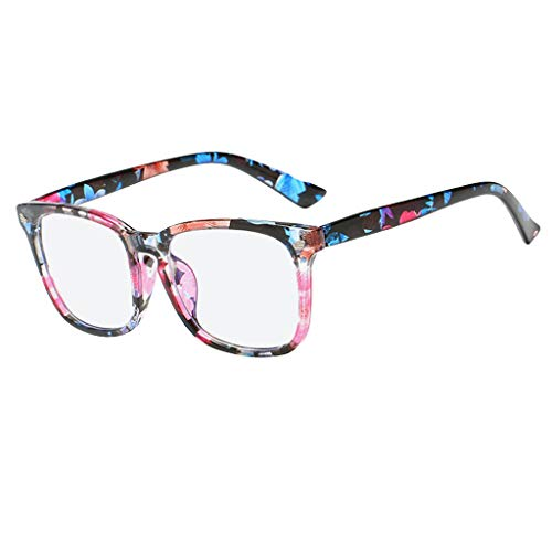 Fiaya Anti Blue Ray Glasses Computer Glasses Blue Light Blocking Glasses Square Nerd Eyeglasses Frame (Color G) by Fiaya (Image #3)
