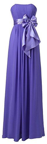 Gowns Chiffon Light Lily's Long Bridesmaid Purple Dress Evening LD04 Sweetheart Dresses Prom tfwq8gAfv