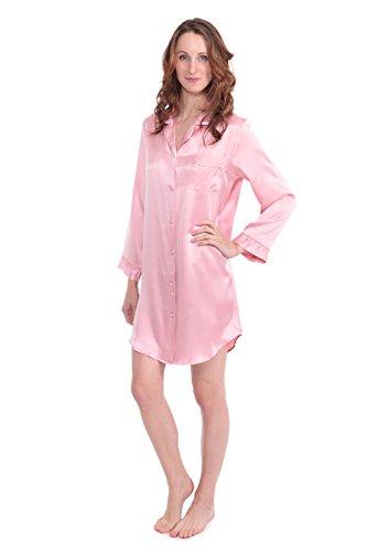 texeresilk-womens-elegant-silk-sleep-shirt-dream-fest-coral-blush-large-beautiful-sleepwear-for-her-