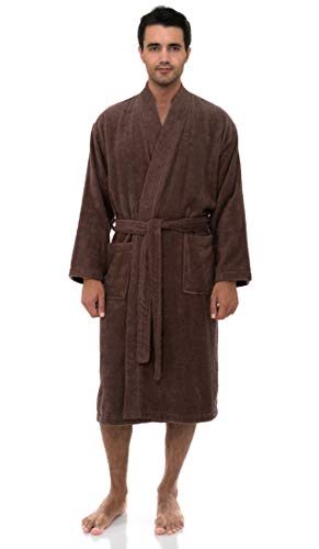 TowelSelections Men's Robe, Turkish Cotton Terry Kimono Bathrobe X-Small/Small Acorn -