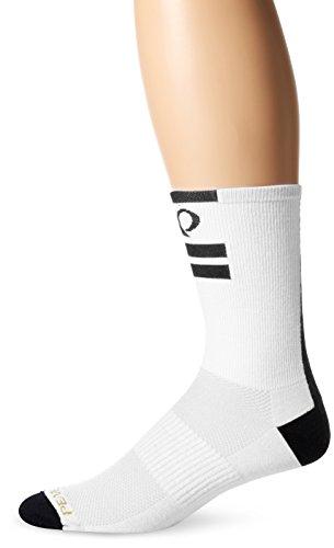 Pearl Izumi White Cycling Socks (Pearl Izumi - Ride Adult Elite Tall Socks, Core White, X-Large)