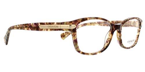 Coach Women's HC6065 Eyeglasses Confetti Light Brown 51mm ()