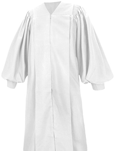 Pulpit Robe - Clergy Robe Pulpit Deluxe Preacher Robe White (5'1