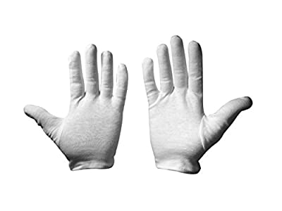 Leah Mitchell - (4 pairs) Moisturizing Therapeutic Gloves for Dry Hands Made with Premium 100% White Cotton