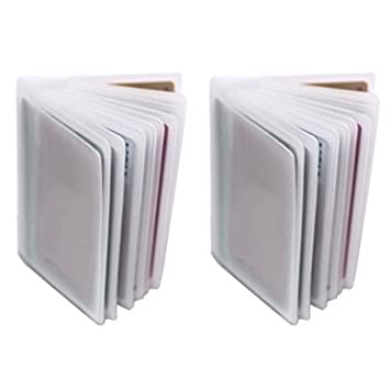 Amazon 2 16 page plastic wallet inserts for bifold or trifold 2 16 page plastic wallet inserts for bifold or trifold wallets credit card business reheart Images