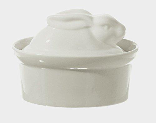 La Porcellana Bianca White Porcelain Rabbit Shaped Casserole Dish Terrine P001501016 ()