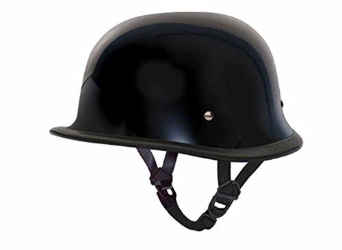 Daytona Helmets DOT Certified German Style Motorcycle Helmet Hi Gloss Black L Black (Dot Helmets Daytona)