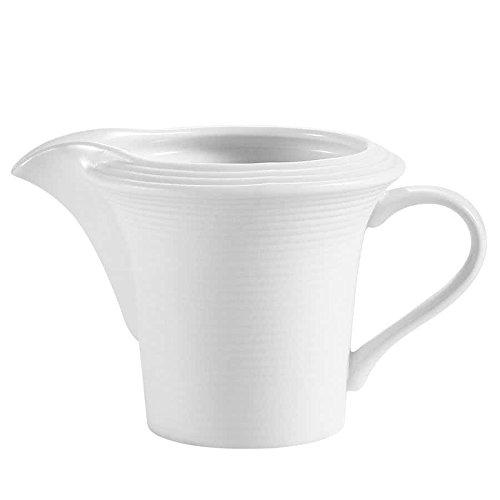Tabletop King TST-PC Transitions 4 oz. Bright White Porcelain Creamer - 36/Case