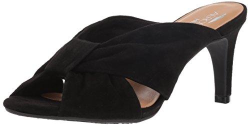 Aerosoles Suede Sandals (Aerosoles Women's Street LAMP Sandal, Black Suede, 10.5 M US)