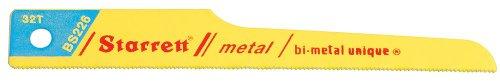 Starrett BS226-20 Bi-Metal Unique Straight Metal Cutting Pneumatic Reciprocating Saw Blade, 0.025