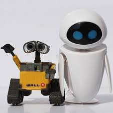 Wall-E Robot (6cm 2pcs/set) Wall E & EVE PVC Action Figure Collection Model Toys
