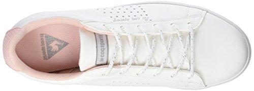 COQ Le Lo Mujer Blanc Agate Blanco White S Metallic para Englis Mesh Optical Sportif Zapatillas Lea SUUq4