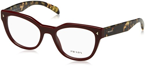 Prada PR21SV Eyeglass Frames USH1O1-51 - Bordeaux - Prada Eyes Cat