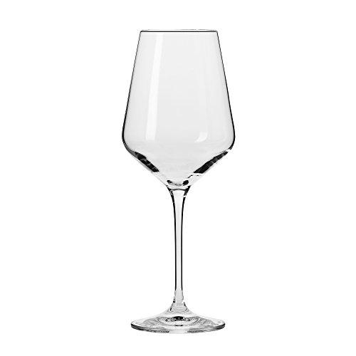 Household Essentials Krosno Vera White Wine Glasses  Set Of 6   13 Oz  Clear