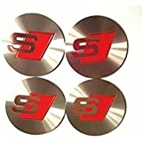 BENZEE 4pcs W320 60mm Car Emblem Wheel Hub Caps Centre Cover Lotus